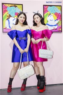 魅力女神拐拐攜手高人氣的夢幻甜美網紅呂妍芯、Ines Wang一起玩穿搭,圖為Ines Wang、呂妍芯。(圖/記者林士傑攝影)