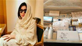 陳文茜秀出行李照,竟帶著滿滿的藥物。(圖/翻攝自文茜的世界周報 Sisy's World News)