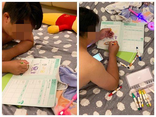 幼稚園,作業,女兒,家長,爸爸,爆怨公社 圖/翻攝自臉書爆怨公社