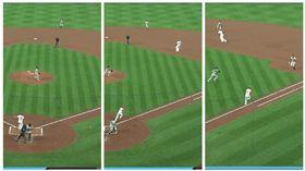 ▲紅雀游擊手德揚(Paul DeJong)擊出的界外球竟然會轉彎。(圖/翻攝自MLB官網)