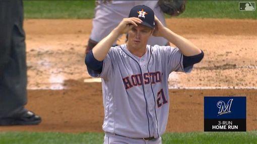▲葛蘭基(Zack Greinke)連2場挨轟,吞轉隊後首敗。(圖/翻攝自MLB官網)