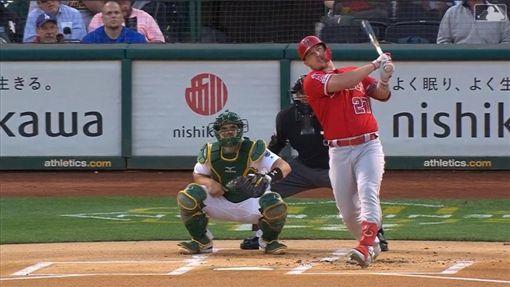 ▲楚奧特(Mike Trout)擊出本季第44號全壘打。(圖/翻攝自MLB官網)