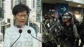 香港特首林鄭月娥恐啟動《緊急法》,賦予港府更多權力來處理「反送中」。(組合圖/資料照)