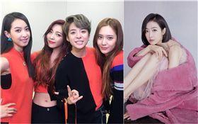 f(x),宋茜,Amber,Luna,Krystal(圖/翻攝自f(x)官方臉書、微博)