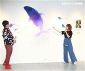 黃子佼與郭靜一同出席「攜手憨兒彩繪幸福時光」公益活動。(記者邱榮吉/攝影)