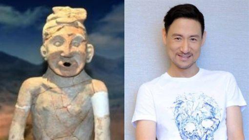 5300年前陶俑「中華祖神」撞臉張學友 網驚:歌神穿越了?(圖/翻攝自微博)