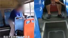 中國,江蘇,拉屎,公車(圖/翻攝自梨視頻)