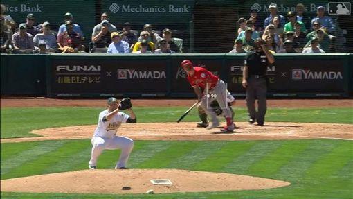 ▲楚奧特(Mike Trout)成為小葛瑞菲(Ken Griffey Jr.)後首位敲出45轟的中外野手。(圖/翻攝自MLB官網)