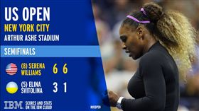 ▲小威廉絲晉級美網女單決賽。(圖/翻攝自小威廉絲推特)