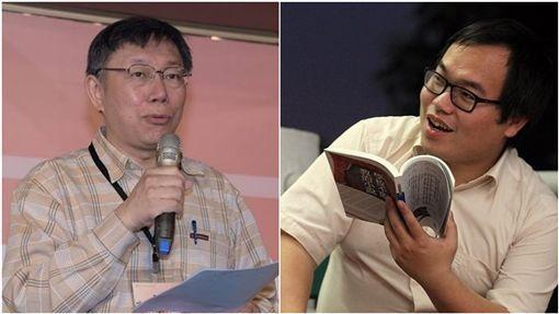 柯文哲(左)、朱宥勳(合成圖/翻攝自柯文哲、朱宥勳臉書)
