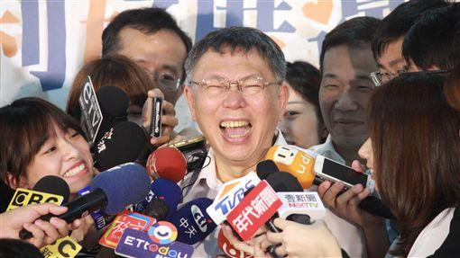 柯文哲,(圖/記者李依璇攝影)