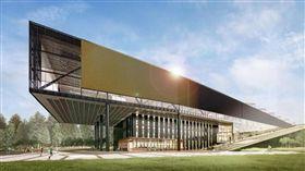 ▲詹姆斯為名的NIKE新建築。(圖/翻攝自詹姆斯推特)