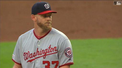 ▲史特拉斯堡(Stephen Strasburg)6局失3分優質先發,隊友熄火僅3安,無緣17勝。(圖/翻攝自MLB官網)