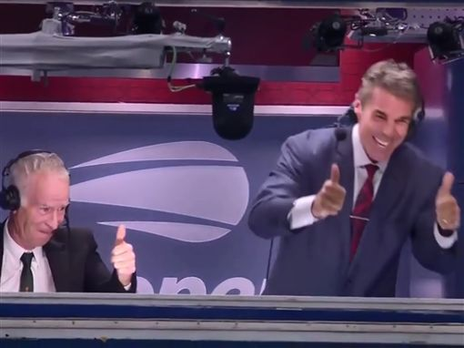 美網/太神啦!納達爾將球打上轉播間美網,Rafael Nadal,特技翻攝自推特