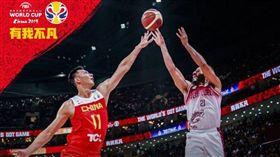 世界籃球世界杯,中國男籃隊不敵委內瑞拉,59比72淘汰出局,無緣晉級16強。(圖/翻攝自世界盃官方微博)