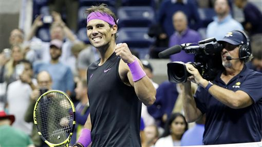 ▲納達爾(Rafael Nadal)闖進美網男單決賽。(圖/達志影像)