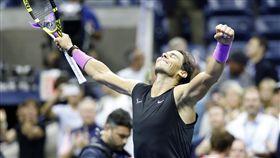 ▲納達爾(Rafael Nadal)闖進美網男單決賽,力拚生涯第19座大滿貫冠軍。(圖/達志影像)