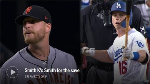 ▲道奇戰巨人,上演威爾史密斯(Will Smith)投打對決。(圖/翻攝自MLB官網)