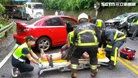 宜蘭縣,北宜公路,對撞,車禍,受傷,受困