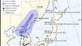 玲玲颱風,南韓,意外,強風,撞牆,身亡,災情