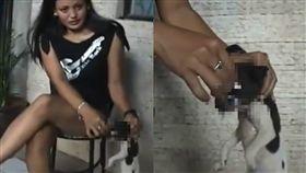 菸頭,狗,虐狗,捆住,骨折,虐待,SPCA Singapore,新加坡,癖好,抽菸,菸灰缸, 圖/翻攝自推特