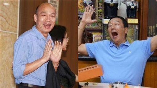 有日媒評估,若郭台銘參選,將與韓國瑜一同落選。(組合圖/資料照)