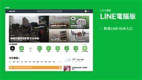 LINE電腦版,MAC,LINE,LINE HUB,聊天室 圖/翻攝自LINE部落格
