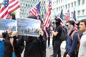 香港遊行開始  主題人權與民主(2)