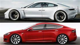 ▲特斯拉Model S、保時捷Taycan(圖/翻攝網路)