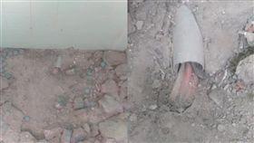 舊大樓施工驚見地板埋「這條」 水電師傅嚇:差點GG(圖/翻攝自臉書爆廢公社公開版)