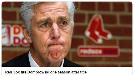 ▲紅襪棒球營運總裁東布羅夫斯基(Dave Dombrowski)遭解雇。(圖/取自紅襪推特)