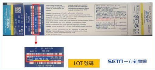 食藥署今(9)日接獲嬌生公司通報,安視優隱形眼鏡製成有瑕疵,將回收部分問題批號產品。(圖/食藥署提供)
