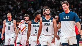 美國男籃,美國隊,世界盃。(圖/翻攝自美國男籃官方推特)