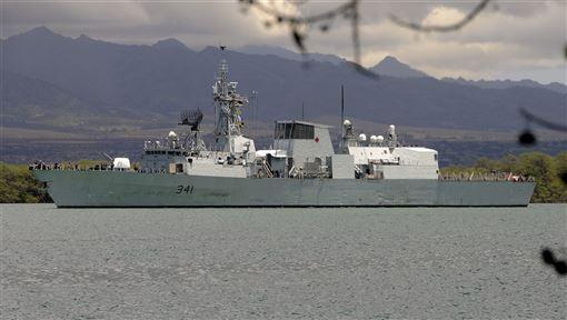 加拿大海軍「渥太華」號護衛艦,10日上午從北往南穿越台灣海峽。(檔案照片/圖取自維基共享資源,版權屬公眾領域)