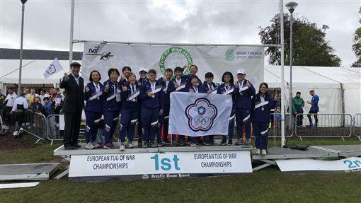 ▲青年女子500公斤組代表隊勇奪金牌。(圖/教育部體育署提供)