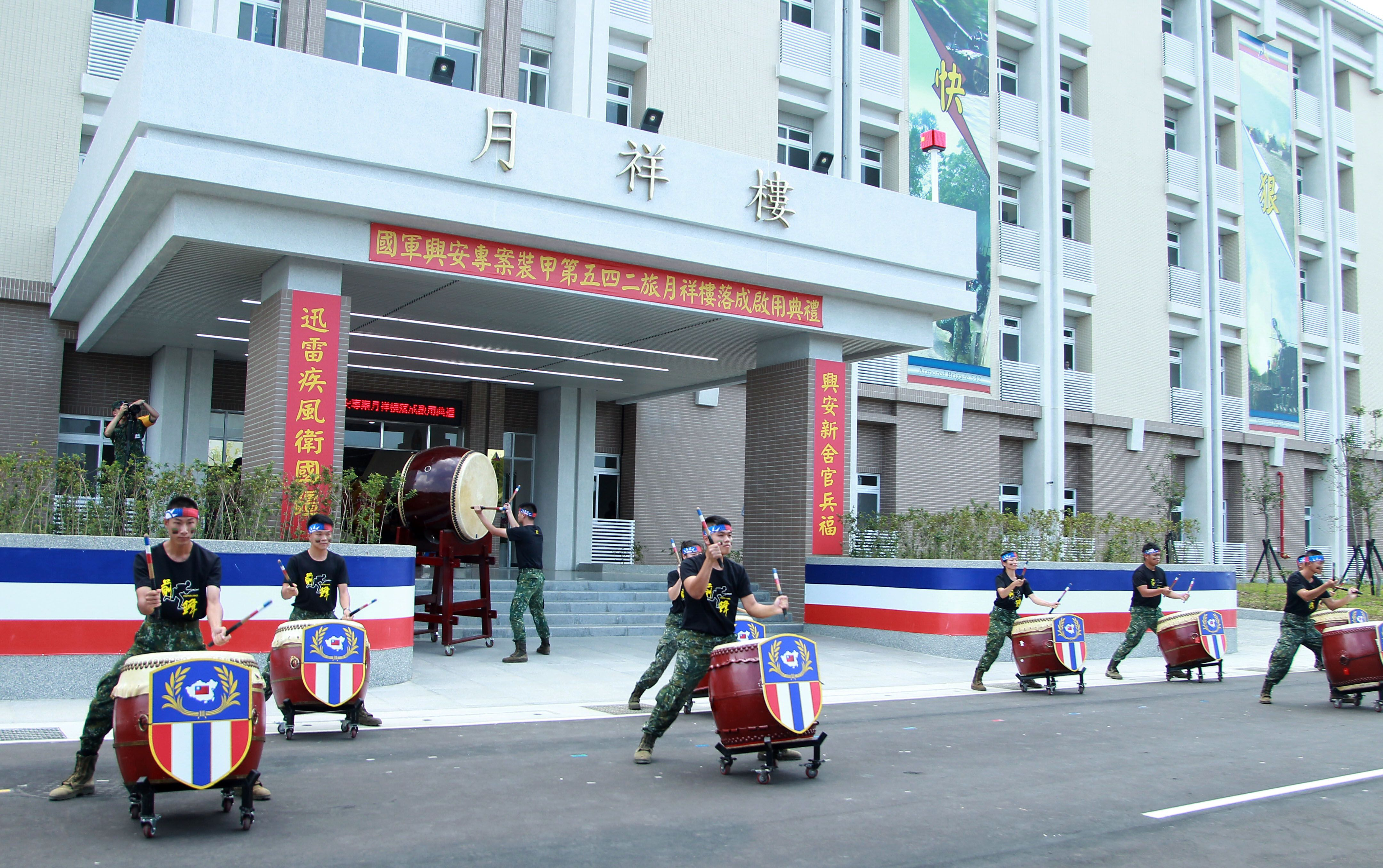 總統蔡英文主持陸軍司令部所屬的湖口三營區,裝甲第542旅月祥樓,落成揭牌啟用。(記者邱榮吉/攝影)