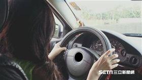 開車,女駕駛,三寶(擋車牌)