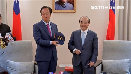郭台銘,王金平,送順澤宮帽子