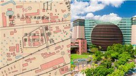 京華城。(圖/取自台北市百年地圖、資料照)