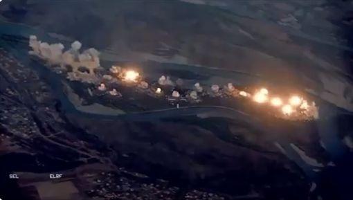 美軍空襲伊拉克卡努島(圖/翻攝自OIR Spokesman Col. Myles B. Caggins III 推特)