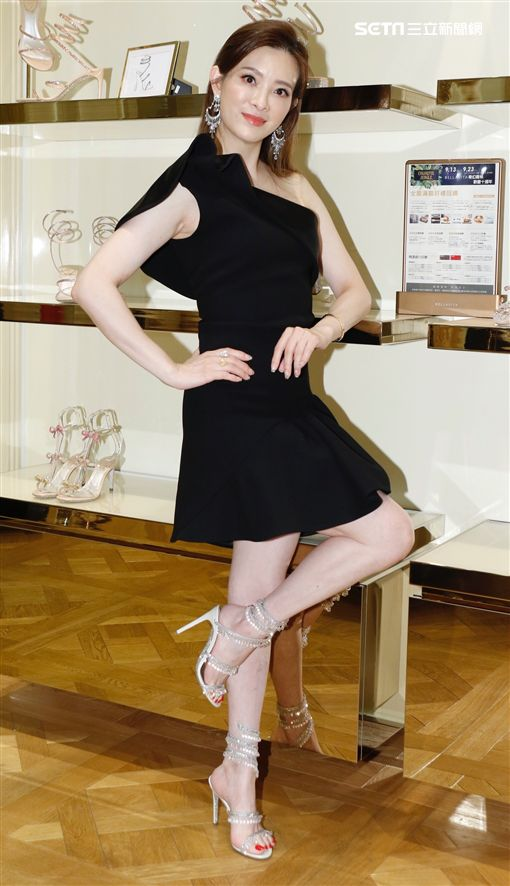 劉真今(11日)出席義大利精品鞋履品牌Rene Caovilla秋冬新品發表會(記者林聖凱攝影)