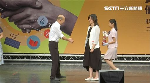 韓國瑜,老師,握手,表揚,市長