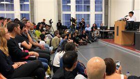 黃之鋒柏林演講香港眾志秘書長黃之鋒11日在柏林洪堡大學演講,現場座無虛席。中央社記者林育立柏林攝  108年9月12日