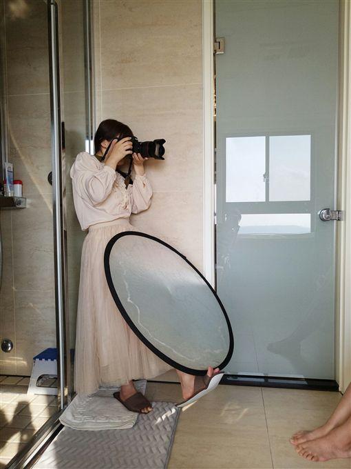 童顏攝影師莉奈(莉奈提供、記者郭奕均攝影)