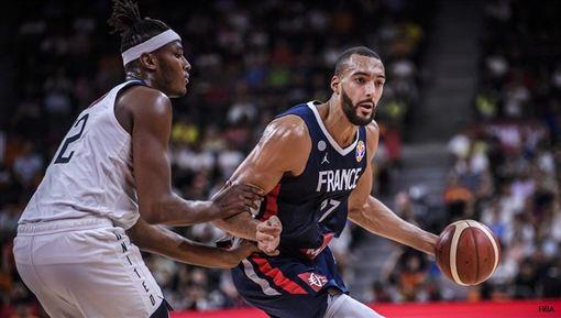 世界盃/美國輸球內幕?法國高塔怒了FIBA世界盃,法國國家隊,Rudy Gobert,美國國家隊,Myles Turner翻攝自推特