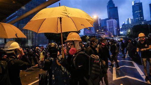香港,反送中,15日,遊行,遭禁止(圖/中央社)
