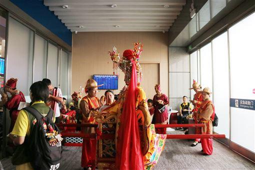 湄洲,媽祖,高鐵,回家,大陸(圖/中央社)