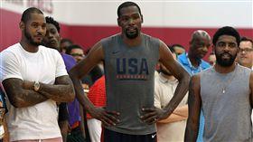 NBA/傳籃網球星正推動簽「甜瓜」 NBA,布魯克林籃網,Kevin Durant,Kyrie Irving,Carmelo Anthony 翻攝自推特