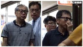 中信銀台南土地弊案,張明田(左),弟弟張明人(右)。(圖/記者楊佩琪攝)