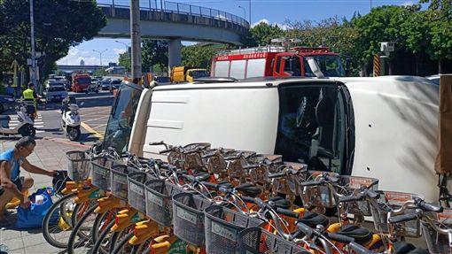 台北市,車禍,休旅車,機車,受困